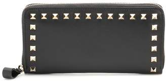 Valentino Rockstud leather zip-around wallet