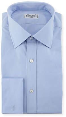 Charvet Poplin French-Cuff Dress Shirt, Blue
