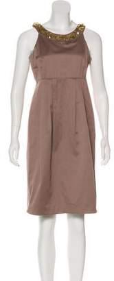 Burberry Embellished Knee-Length Dress
