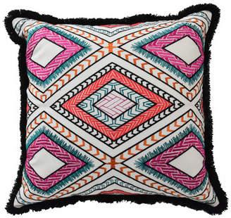 ... Blissliving Home Mexico City Poncho Cotton Throw Pillow