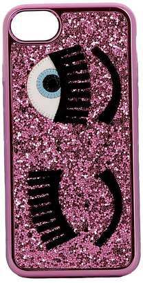 Chiara Ferragni Pink Glitter Cover