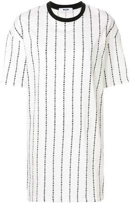 MSGM brand stripe T-shirt dress