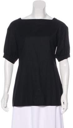Saint Laurent Short Sleeve Wool Top