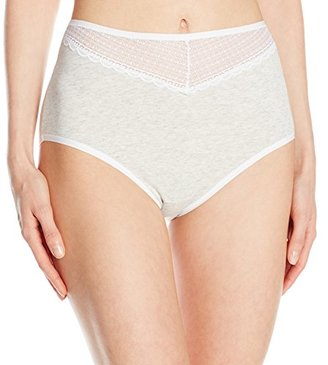 Vanity Fair Women's Cotton Beautifully Smooth with Lace Brief Panty 13128 $10.67 thestylecure.com
