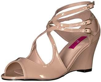 Pleaser USA Pink Label Women's Kim04/Cr Wedge Sandal,10 M US