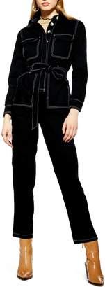 Topshop Denim Boiler Suit