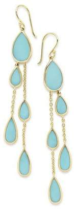 Ippolita 18K Polished Rock Candy Multi-Pear 2-Chain Drop Earrings in Turquoise