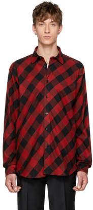 John Lawrence Sullivan Johnlawrencesullivan Red and Black Plaid Shirt