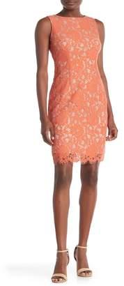 Nicole Miller Studio Sleeveless Lace Dress