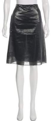 Gucci Metallic Knee-Length Skirt Silver Metallic Knee-Length Skirt