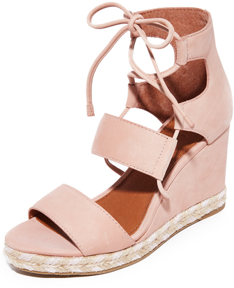 Frye Roberta Ghillie Wedge Sandals $278 thestylecure.com