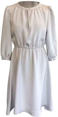 Katherine Hooker Sadie Dress In Silver Morocain