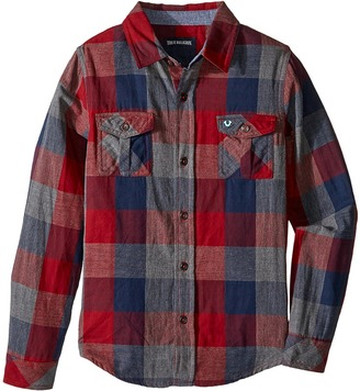 True Religion Kids Woven Plaid Workwear Shirt (Toddler/Little Kids) $69 thestylecure.com