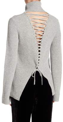 A.L.C. Alexander Lace-Up Turtleneck Sweater