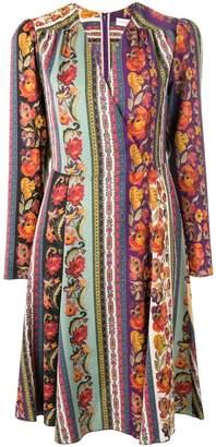 Etro striped flower print dress