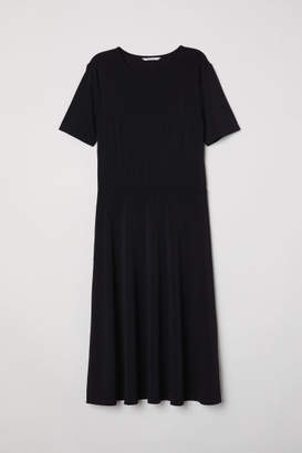 H&M Knee-length Jersey Dress - Black