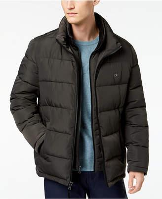 Calvin Klein Men's Big & Tall Full-Zip Puffer Coat