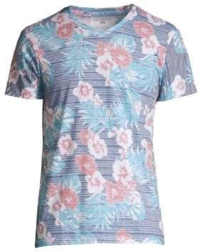Sol Angeles Classic-Fit Hibiscus Print V-Neck Tee