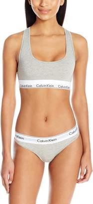 Calvin Klein Women's Standard Modern Cotton Bralette and Bikini Set