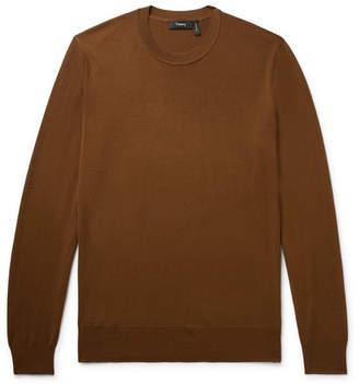 Theory Merino Wool Sweater - Chocolate