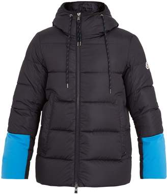 Moncler Drake contrast-panel quilted-down jacket