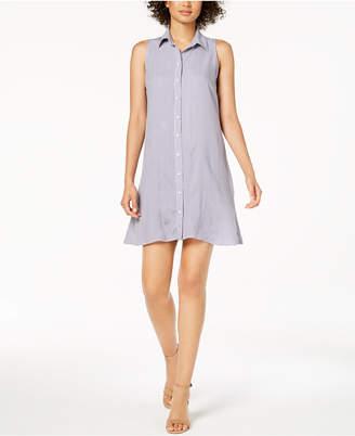 MSK Petite Sleeveless Printed Shirtdress