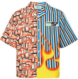 Prada Short-sleeved shirt with two prints