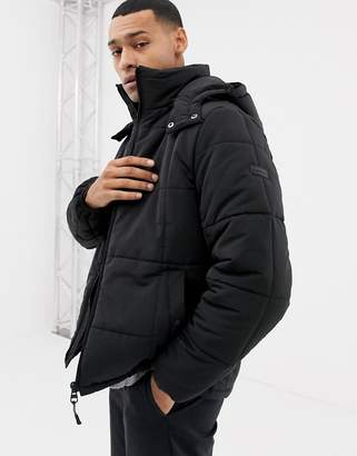 Esprit lightweight zip through hooded puffer jacket