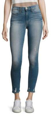 Peserico Le High Distressed Skinny Jeans