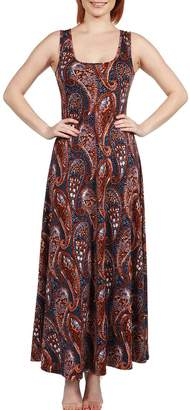 24/7 Comfort Apparel Rust Maxi Dress