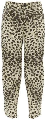 Sea Low Rise Leopard Print Cotton Trousers - Womens - Leopard