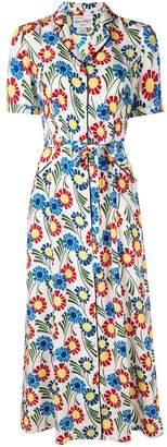 HVN floral print dress