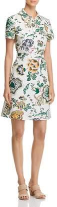 Tory Burch Port Cotton Floral-Print Shirt Dress