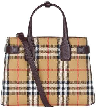 Burberry Small Check Banner Tote Bag