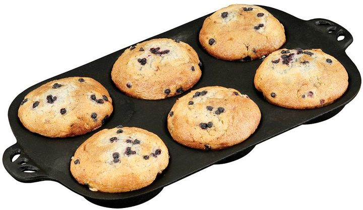 Camp Chef Cast-Iron 6-Cup Muffin Topper Pan