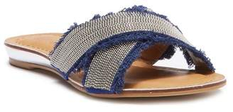 Good Choice New York Rhonda Embellished Crisscross Flat Sandal