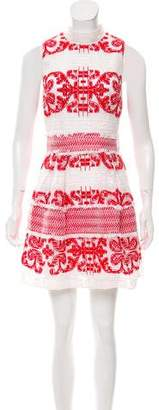 Alexis Embroidered Lace Mini Dress