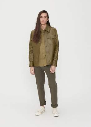 Sies Marjan Oliver Leather Pocket Shirt Jacket