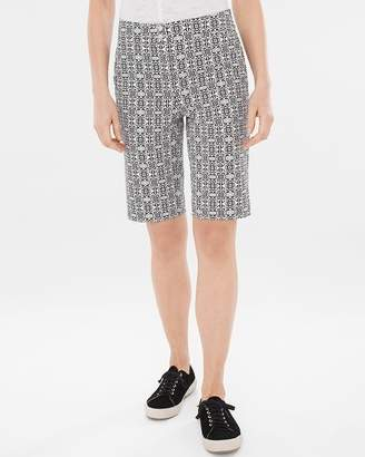 Secret Stretch Tile-Print Shorts- 10 Inch Inseam