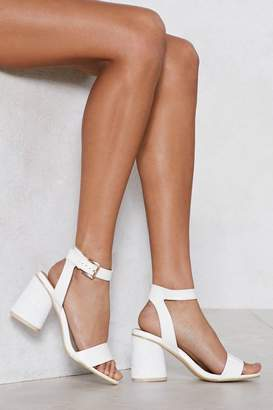 Nasty Gal You Must Walk Faux Leather Sandal