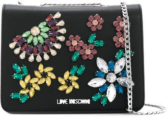 Love Moschino crystal embellished crossbody bag