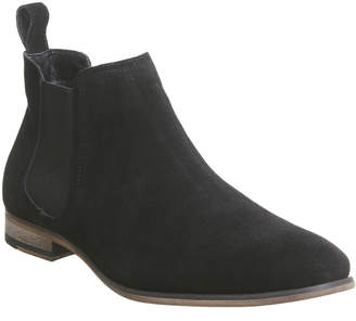 Office Impact Chelsea Boots Black Suede