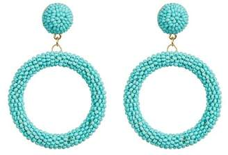 Suzanna Dai Suzie by Beaded Hoop Drop Earrings