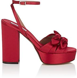 Tabitha Simmons Women's Jodie Satin Platform Sandals - Redsatin
