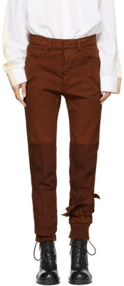 Haider Ackermann Brown Binding Detail Trousers