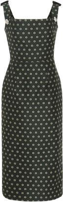 ALEXACHUNG Off-The-Shoulder Embellished Jacquard Midi Dress