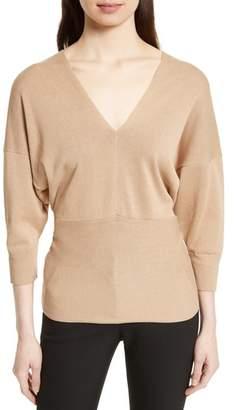Joseph Tie Detail V-Neck Sweater