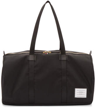 Thom Browne Black Small Unstructured Gym Bag