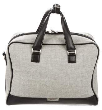 Tumi Leather-Trimmed Woven Satchel