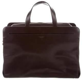 Calvin Klein Collection Textured Leather Briefcase